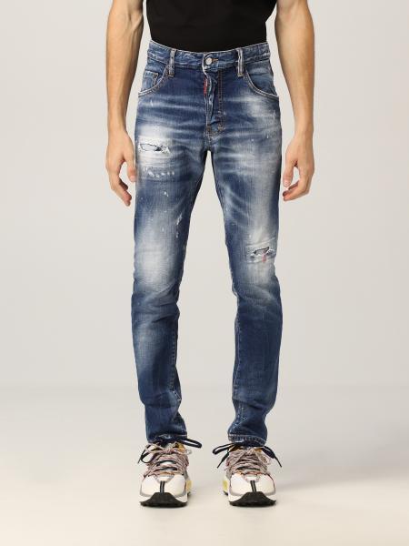 Dsquared2 uomo: Jeans Skater Dsquared2 in denim washed
