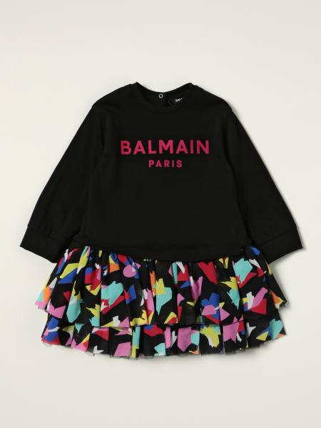 Balmain 图案半身裙棉质连衣裙