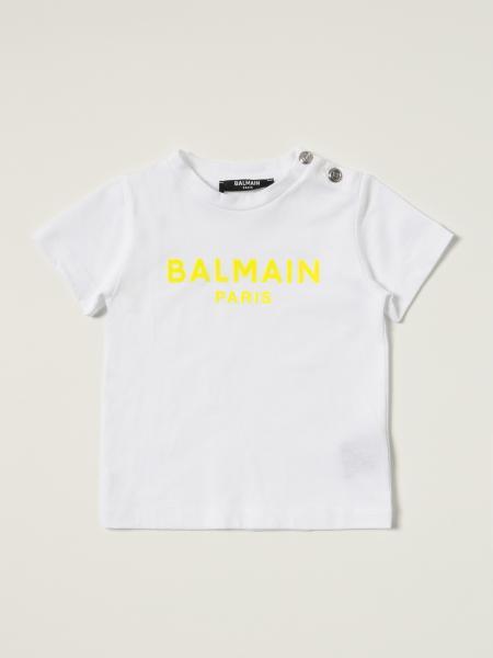 Balmain: Balmain cotton t-shirt with logo