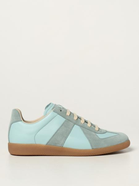 Replica Maison Margiela sneakers in leather and suede