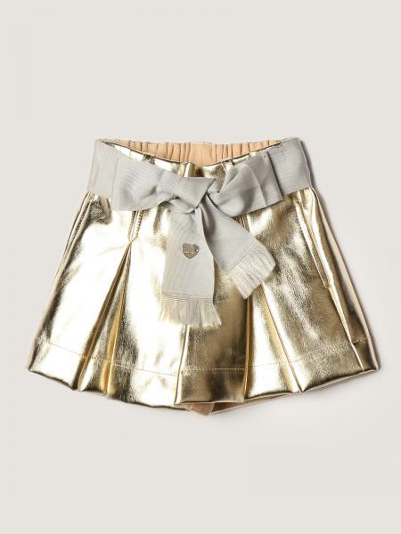 Monnalisa metallic shorts