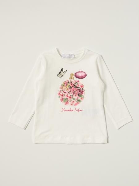T-shirt Monnalisa in cotone con stampa