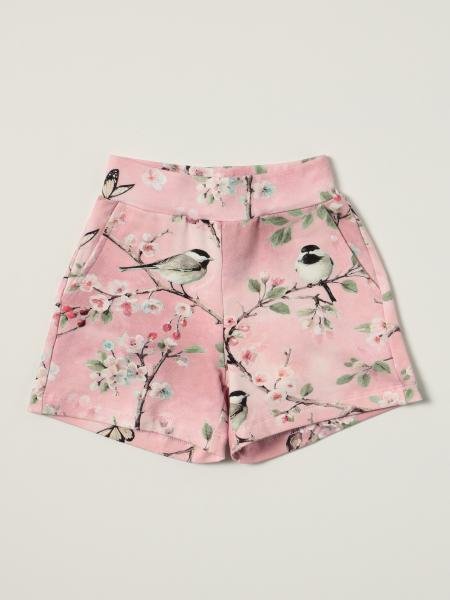 Monnalisa shorts in patterned stretch cotton