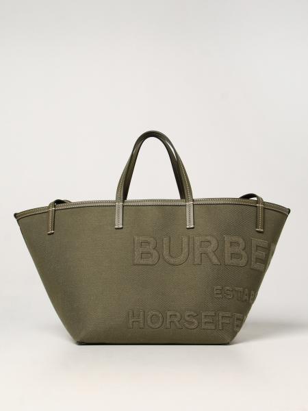 Burberry women: Horseferry Burberry canvas bag