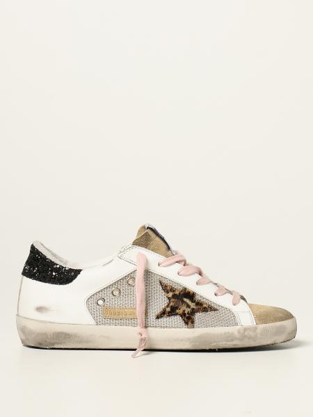 Sneakers Super-Star classic Golden Goose in tessuto e camoscio