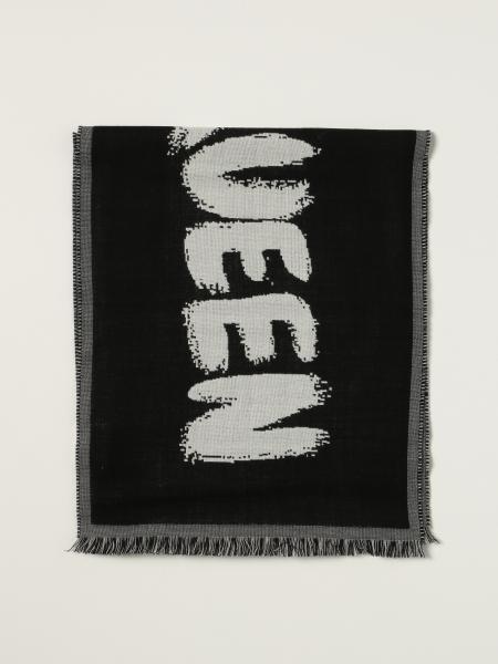 Sciarpa Alexander McQueen con logo graffiti