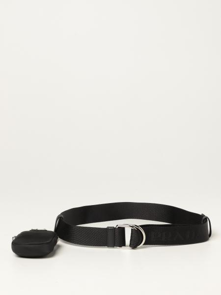 Cintura Prada in nastro logato con mini contenitore
