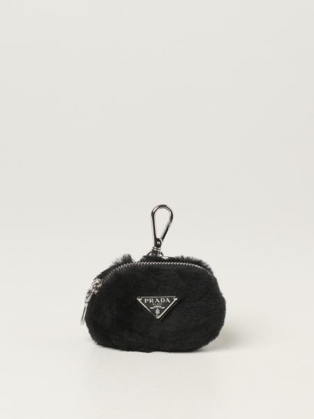 Prada women: Prada mini container in sheepskin with logo