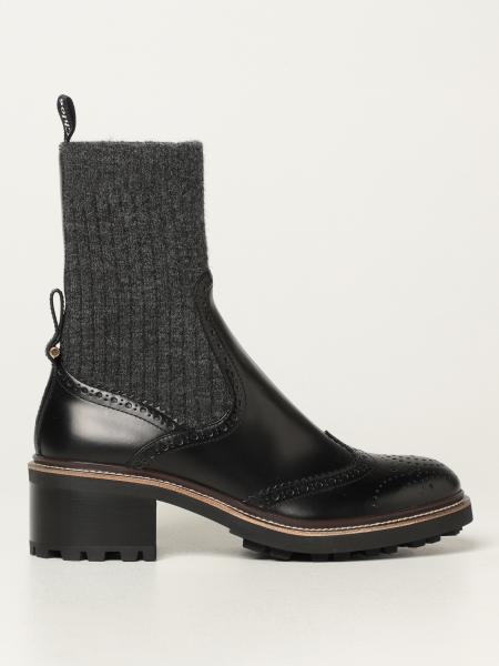 Burberry leather ankle boot