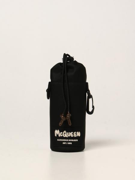 Porta bottiglie Alexander McQueen in nylon con logo Graffiti