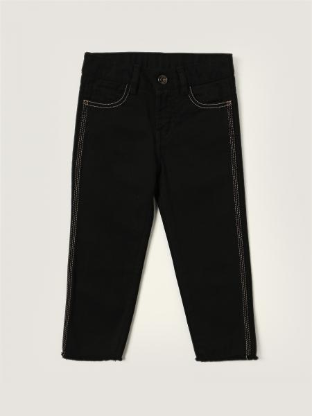 Jeans N° 21 in denim con logo posteriore