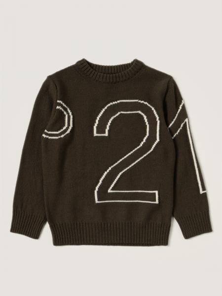 N° 21: N ° 21 crewneck sweater with big logo