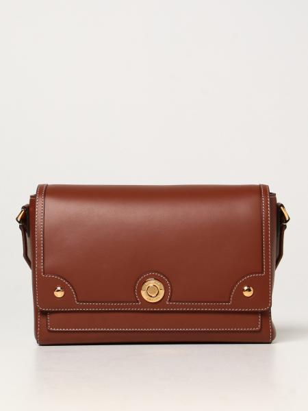 Burberry women: Burberry Note leather shoulder bag