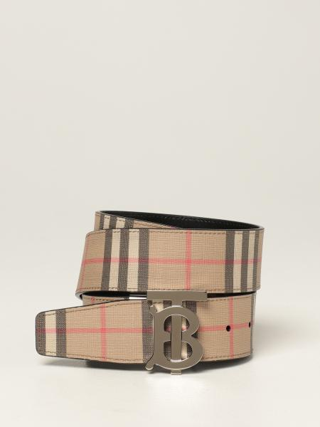 Burberry belt in E-canvas with check pattern