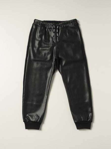Pantalone N° 21 in cotone e pelle sintetica