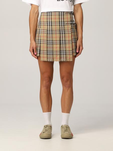 Burberry kilt skirt in wool with vintage check pattern