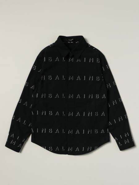 Balmain 印有Logo的棉质衬衫