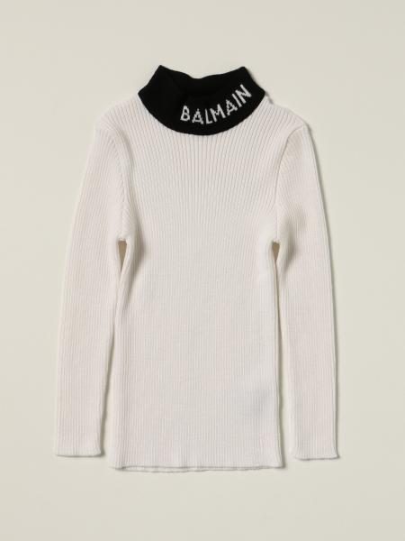 Maglia Balmain in lana con logo
