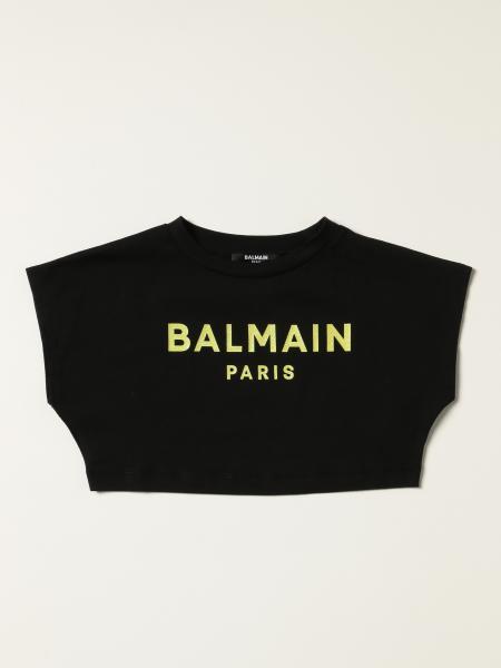Balmain: Balmain cropped T-shirt