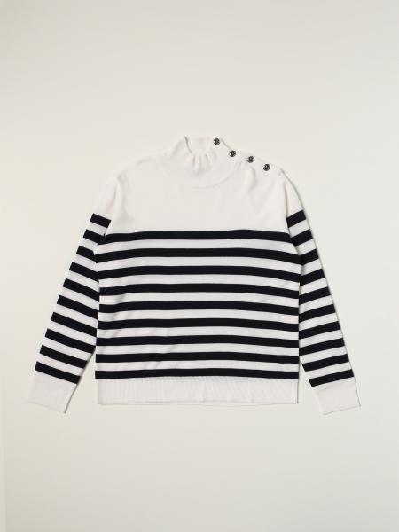 Balmain striped jumper in striped wool