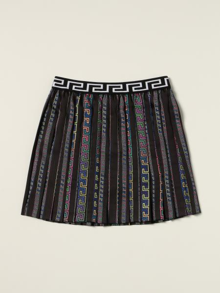 Versace Young pleated mini skirt with greek