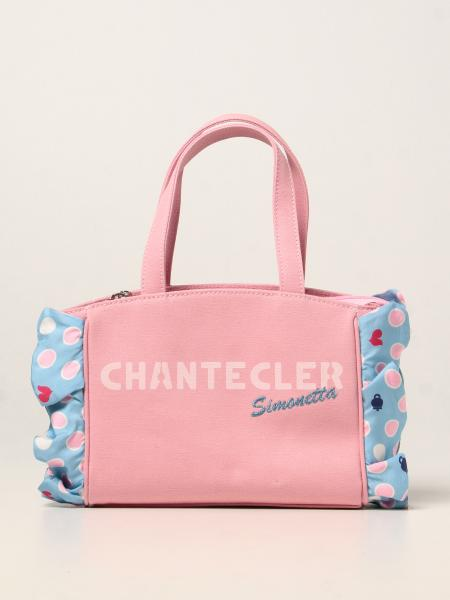 Simonetta x Chantecler bag in canvas with ruches