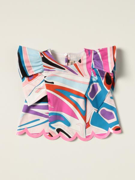 Top Emilio Pucci con stampa abstract