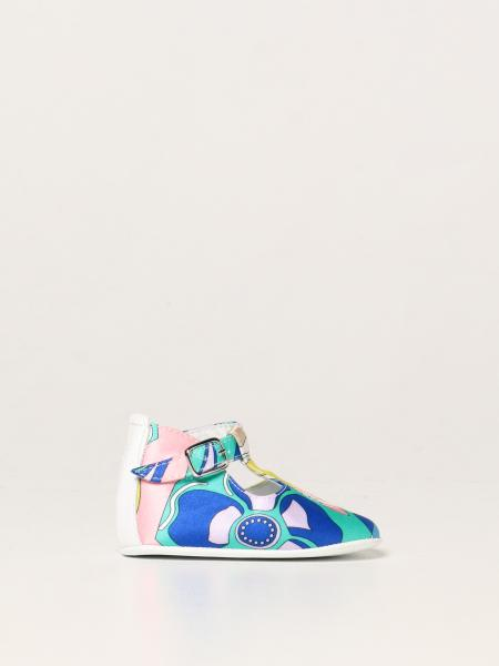 Emilio Pucci shoes in printed silk