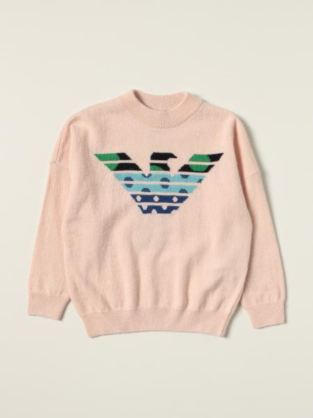 Emporio Armani pullover with patterned logo