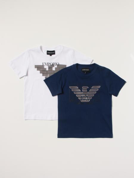Set 2 t-shirt Emporio Armani con logo