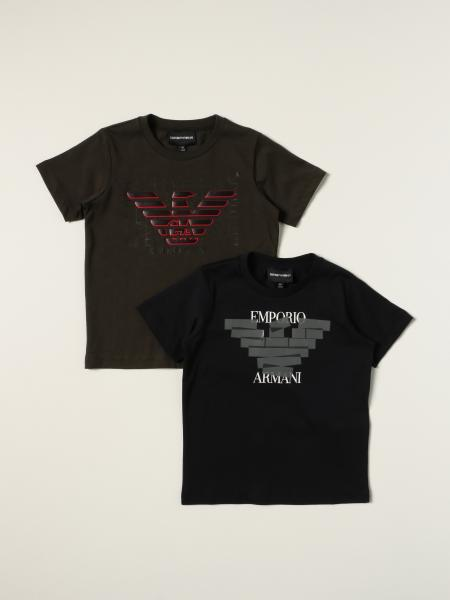 Set of 2 Emporio Armani t-shirts with logo