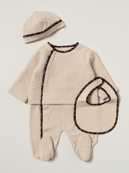 Fendi jumpsuit + bib + hat set