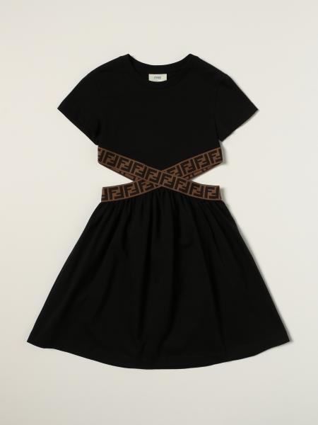 Fendi cut-out cotton dress