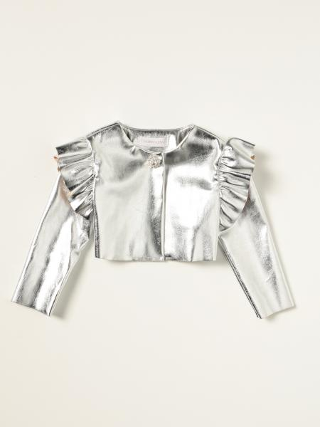 Short metallic Monnalisa jacket