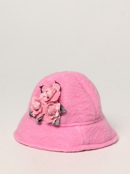 Monnalisa hat with floral applications