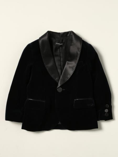 Monnalisa single-breasted jacket in velvet