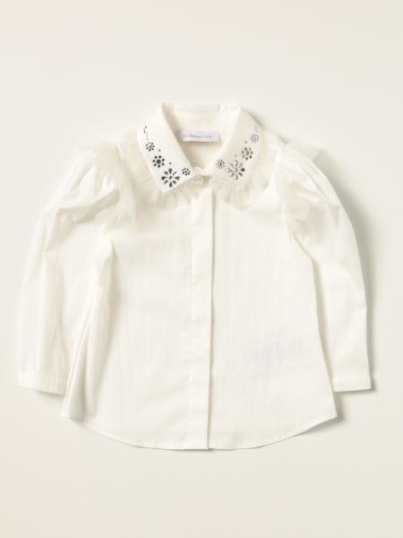 Camicia Monnalisa con fiori di strass