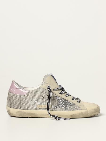 Sneakers Super-Star classic Golden Goose in pelle e rete