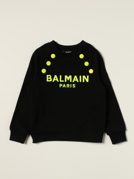 Balmain bambino: Felpa Balmain in cotone con logo