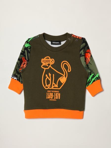Diesel 猴子印花和丛林图案卫衣