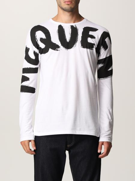 T-shirt Alexander McQueen in cotone con big logo