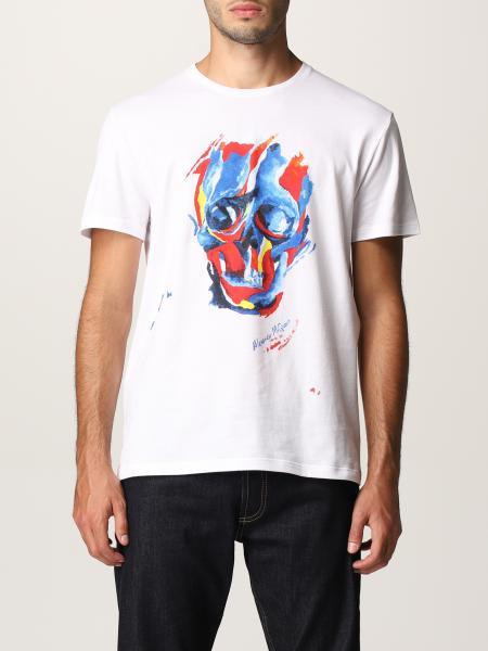 T-shirt Alexander McQueen con stampa teschio