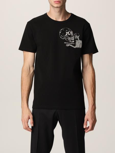 T-shirt Alexander McQueen con teschio