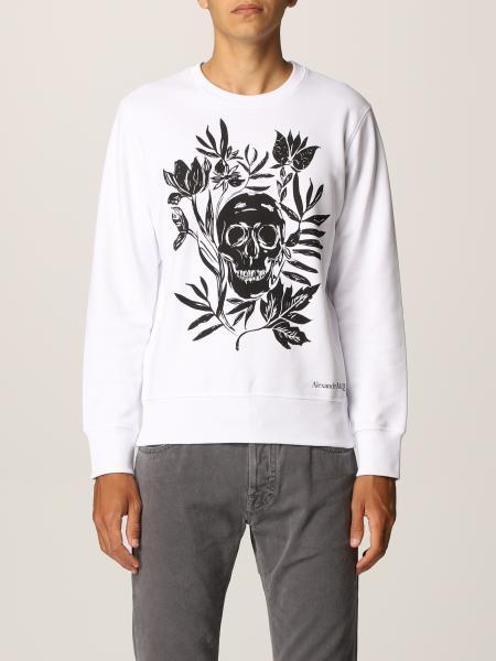 Alexander McQueen cotton sweatshirt with skull