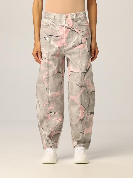 Stella Mccartney donna: Jeans Stella McCartney con stampa marmorizzata