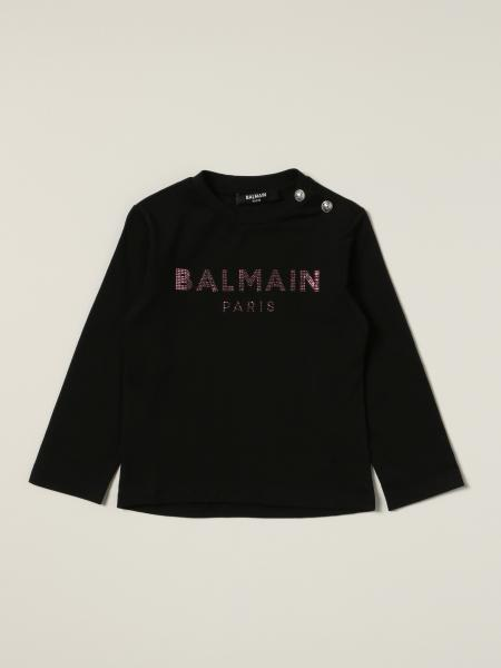 Balmain T-shirt with rhinestone logo