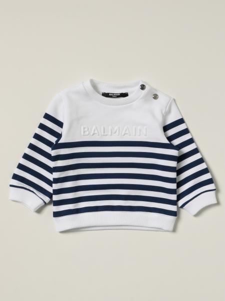 Striped Balmain jumper in striped cotton