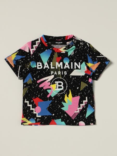 Balmain t-shirt in cotton printed with logo