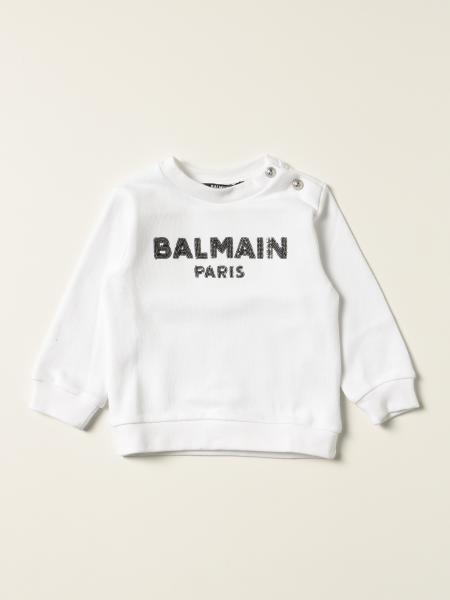 Balmain cotton jumper with sequin logo