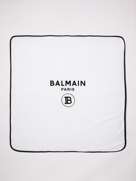 Balmain: Balmain blanket with logo